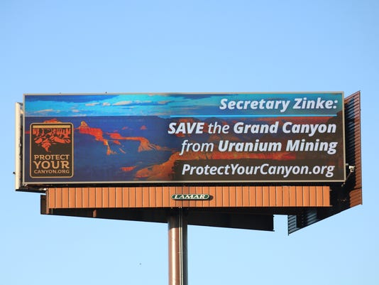 Protect Your Canyon billboard