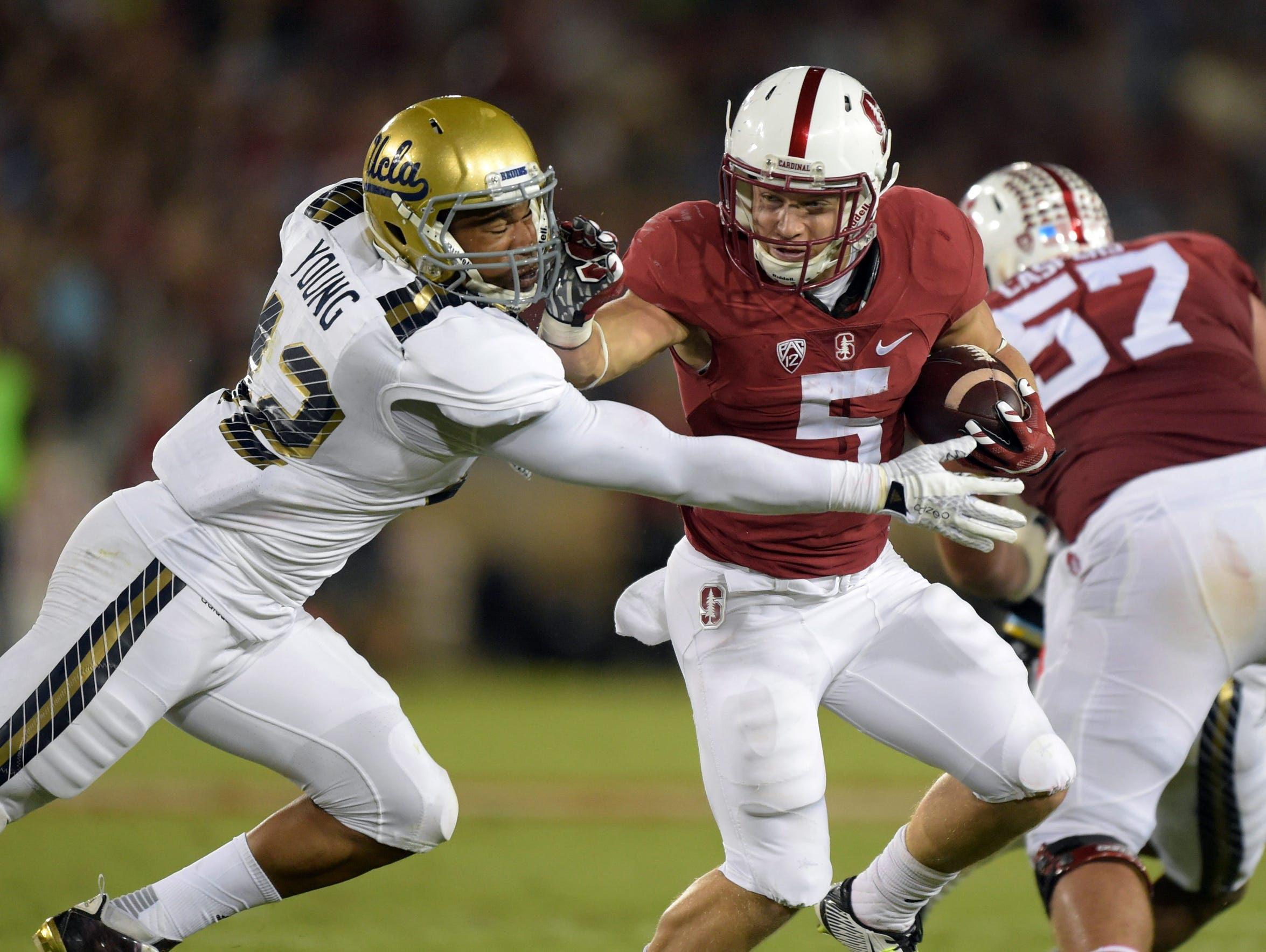 McCaffrey carries a load of muscle on his 6-foot, 200-pound