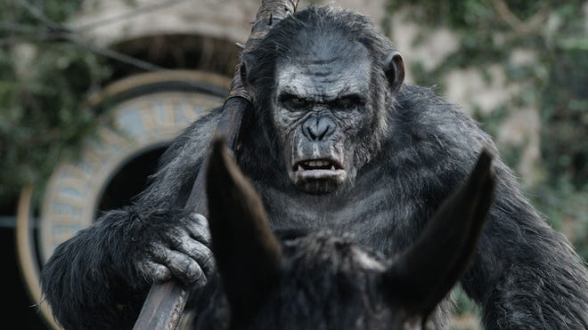'Dawn of the Planet of the Apes' was No. 1 for a second consecutive week.