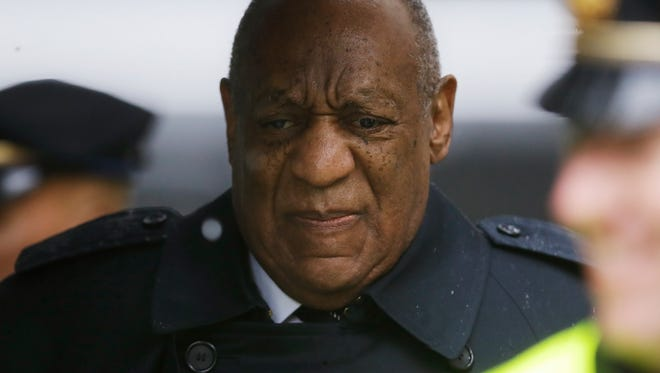 Bill Cosby arrives for Day 6 of his sex-assault retrial, April 16, 2018, in Norristown, Pa.