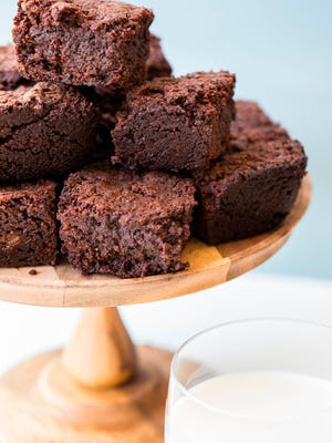 A dash of cayenne pepper gives these brownies a kick that keeps you coming back for more.