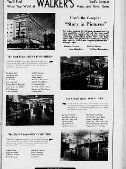 Walker's advertisement from a mid-1950s edition of the York Gazette & Daily