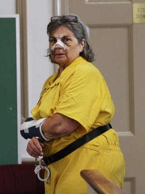 Debra Boucher at a bail hearing in State Superior Court in Morristown on July 6, 2016. Boucher is charged with drunken driving in Rockaway and causing the death of her 40-year-old son, James, who was a passenger and was developmentally disabled.