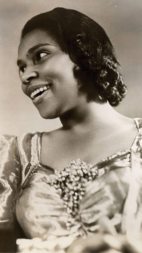 Marian Anderson performed at Lawrence University in