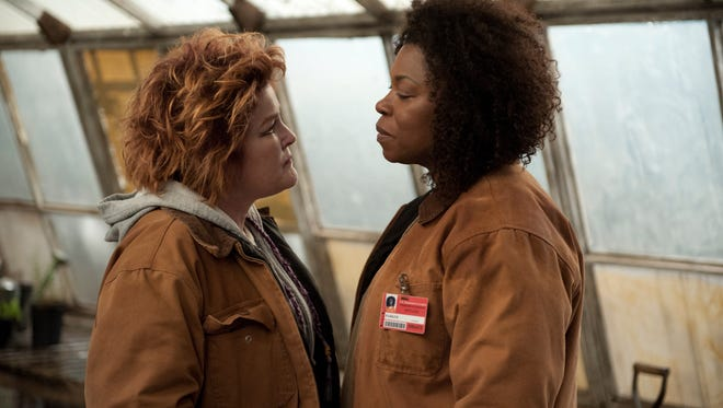 "Kate Mulgrew (L) and Lorraine Toussaint (R) in a scene from Netflix's ""Orange is the New Black"" Season 2."