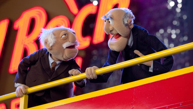 """Statler and Waldorf deliver their own version of """"Muppets Most Wanted."""""""