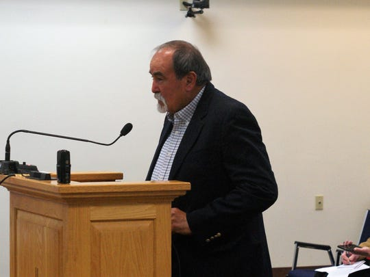 "Rep. Rodolpho ""Rudy"" Martinez (D-Bayard) briefly greeted the CAP Entity board members at their Thursday meeting in Silver City."