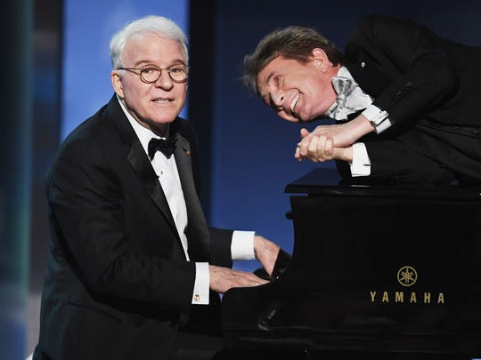 Steve Martin, left, and Martin Short will trade barbs, swap show biz stories and perform stand-up and musical numbers for a joint show in September.