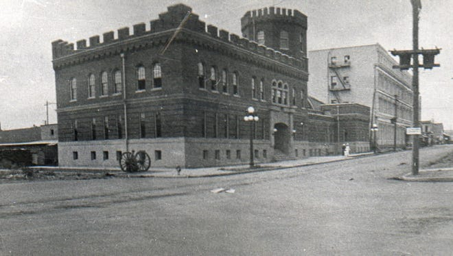 The old Salem Armory is seen shortly after construction. It was built in 1912.