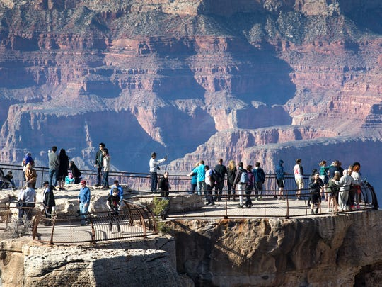 Mather Point illustrates the beauty and majesty of Grand Canyon National Park that will be immortalized in a U.S. Postal Service stamp. Mather Point, February 17, 2016, Grand Canyon, Arizona.