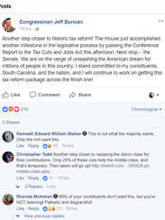 Jeff Duncan issued this statement on Facebook after