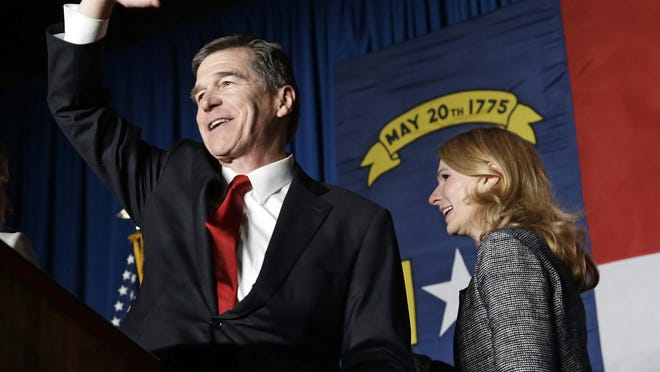North Carolina Gov. Roy Cooper, a Democrat, has been raising funds for his party to regain control of both state legislative chambers.