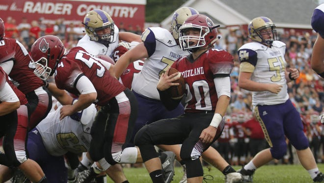 Gabe Schrauben (20) and Portland are ranked No. 3 in Division 5 in this week's Associated Press state rankings.