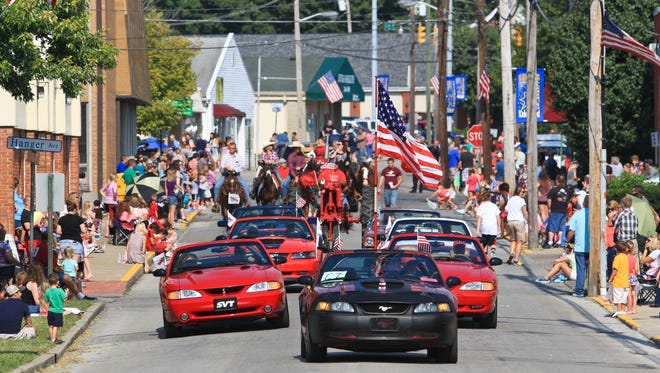 Utica Street in Sellersburg was the scene for the annual Sellersburg Celebrates! parade held since 1990. Aug. 28, 2015