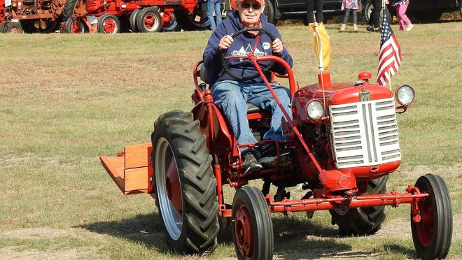 Rob Walker of Mont Vernon, N.H., belongs to the International Harvesters Club and was a great guide for those wanting to learn about tractors.