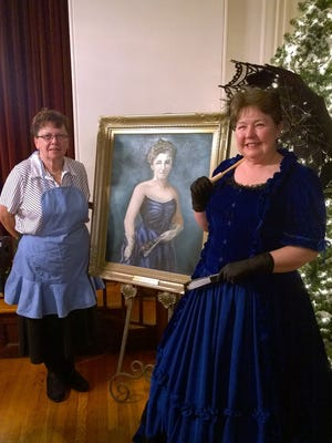 For its 119th anniversary, Jo Ellen Litz played Woman's Club founder, Deborah Norris Coleman Brock, and Mary Ann LeVan played, Stella, her cook.