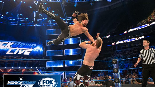 Even though 'SmackDown Live' won't premiere on Fox until 2019, WWE and Fox aren't waiting to pair  their logos in a photograph.