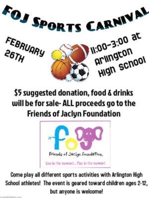 Arlington's Friends of Jaclyn Sports Carnival on Feb. 26, 2017.