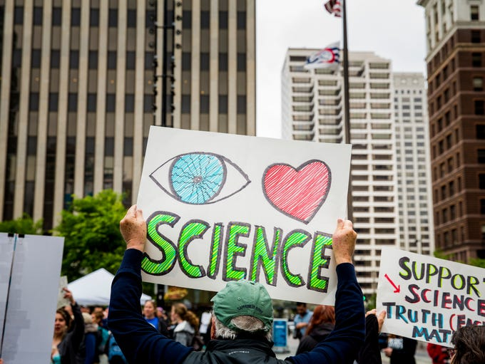 Thousands participate in the March for Science in downtown