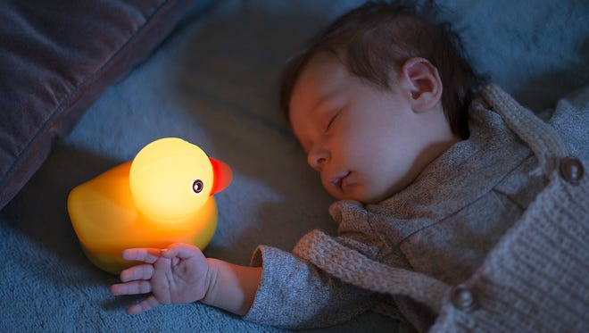 This adorable little rubber duck has no moving parts, but it's a cutting-edge plaything all the same.