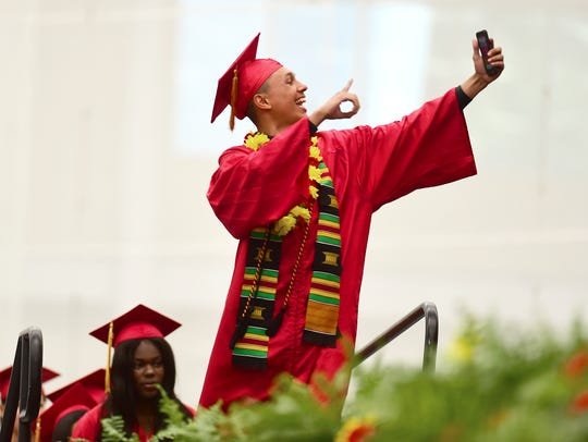 Ithaca High School graduation at the Athletics and