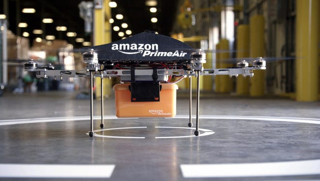 This undated image provided by Amazon.com shows the Prime Air unmanned aircraft project that Amazon is working on in its research and development labs.