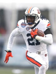 Auburn running back Kerryon Johnson (21) will start for the Tigers on Saturday against No. 2 Clemson.