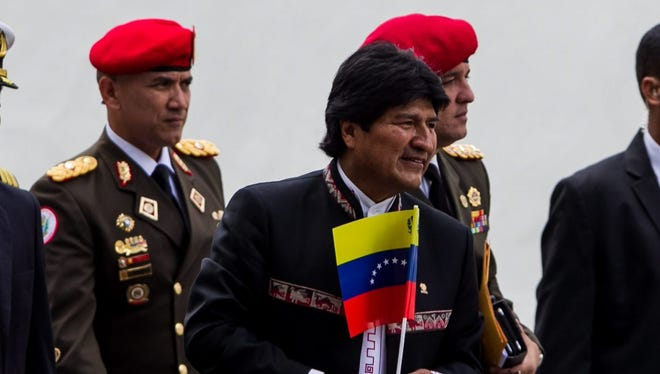 Bolivian President Evo Morales attends the inauguration act of the Mercosur leaders summit in Caracas, Venezuela, Tuesday.