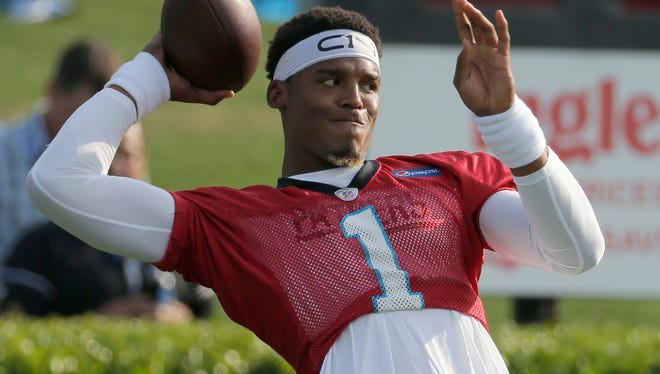 Panthers quarterback Cam Newton has been limited during training camp as he recovers from offseason shoulder surgery.