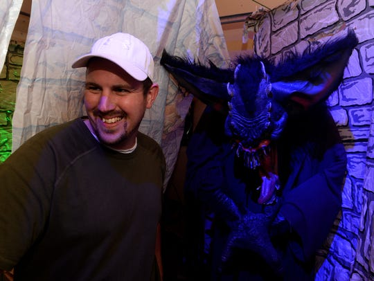 Ryan Perrin and his wife Julie created a haunted house