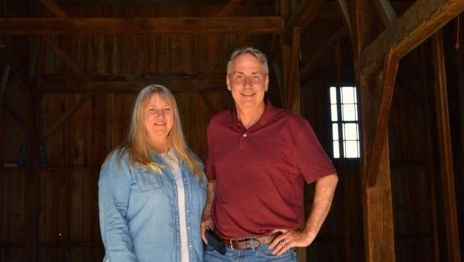 "Tammy and Kelly Rundle, producer and director of ""The Barn Raisers,"" a documentary presented by the Door County Historical Society on June 2 in Sturgeon Bay."
