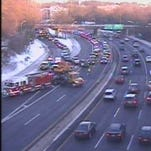 Bronx River Parkway accident scene in a traffic camera image, Jan. 28, 2016. The accident has been cleared.