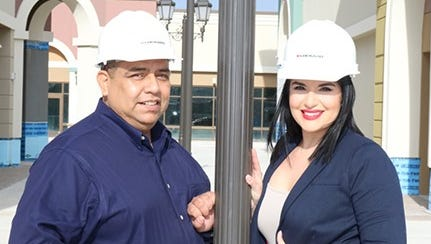 Rigo Tirado (from left) and Kimberly Perez have been named as newest Outlets at Corpus Christi Bay team members.