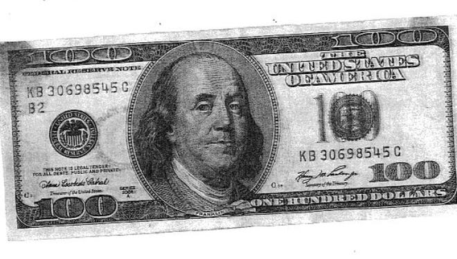One of the fake bills Green Bay police recovered last week.