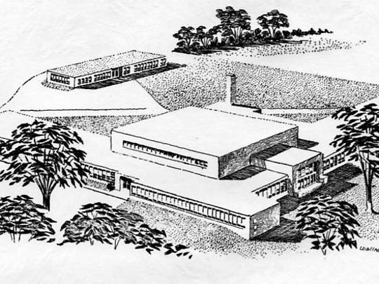 This South Side drawing was published in graduation invitations in the 1960s.
