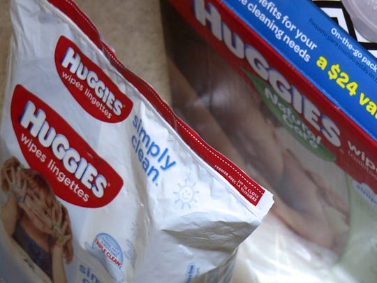 Huggies wipes can be used on the body and face. Some