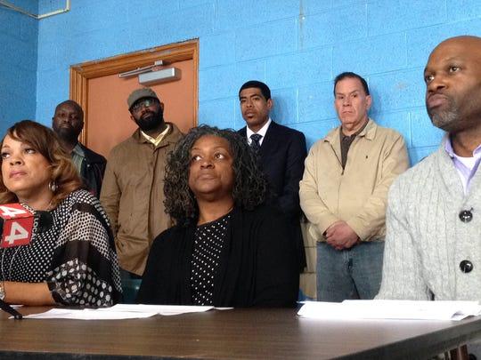 Detroit Federation of Teachers officials Ann Mitchell,