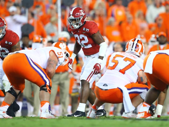 Alabama Crimson Tide linebacker Rashaan Evans in last