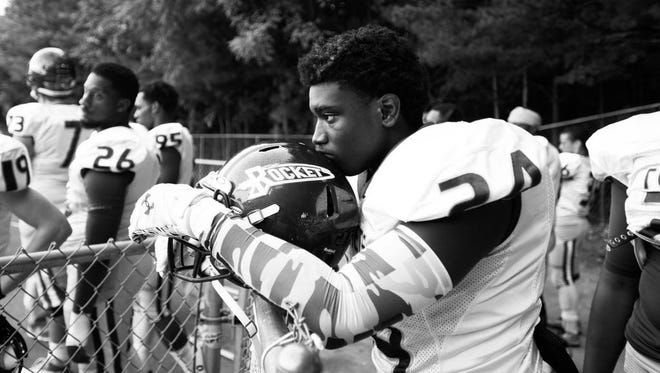 Aundreas Hill averages a team-high 12 tackles a game for the Reynolds football team.