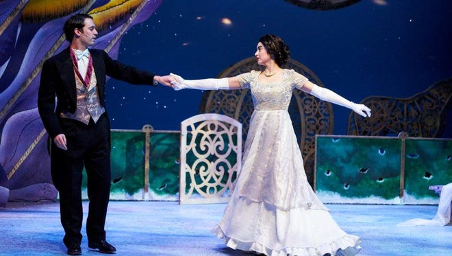 Matthew Rosenbaum as Prince Leopold and Rosemary Fossee as Cinderella dance in Nashville Children's Theatre's version of the classic tale.