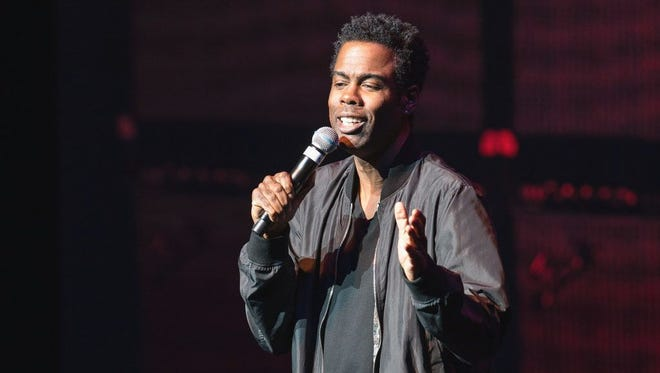 This image shows Chris Rock during a recent Milwaukee performance.