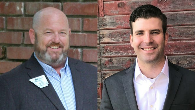 Sean Dougherty, left, and Chalon Kintzley are vying for the Republican nomination for Larimer County Commissioner.