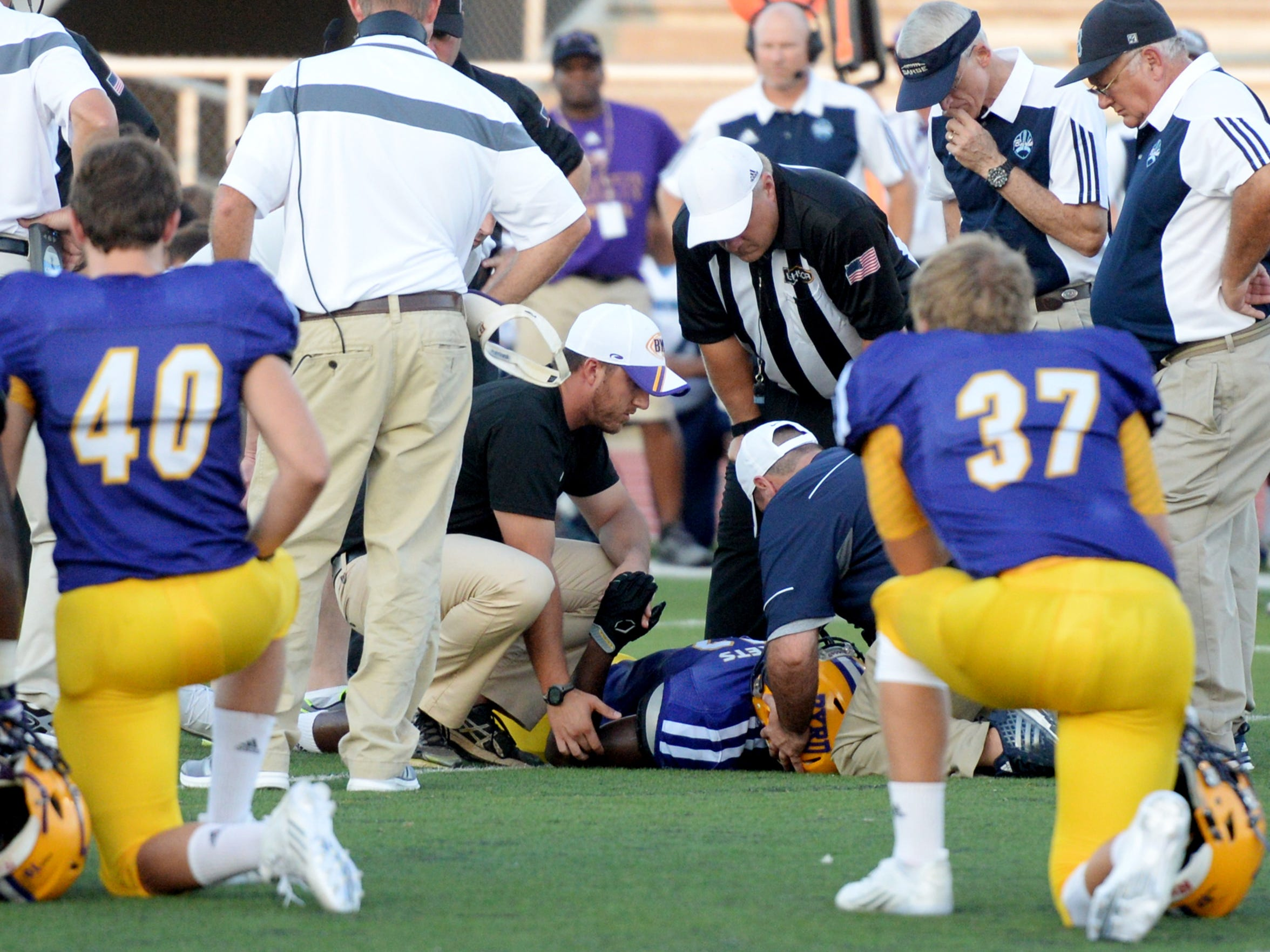 File photo from a Byrd vs. Barbe Buccaneers game at