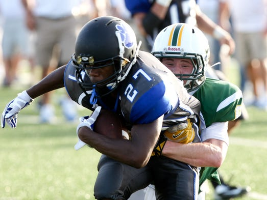 Sterlington plays Cedar Creek on Friday during a scrimmage at the Panthers' home field.