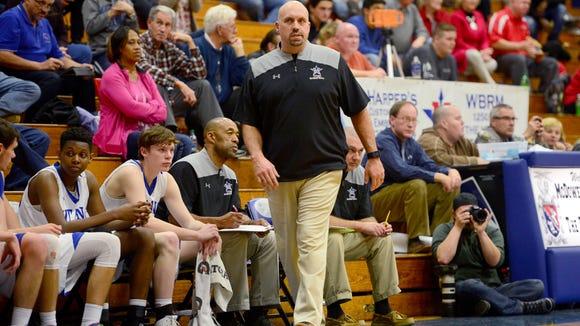 McDowell boys basketball coach Brian Franklin.