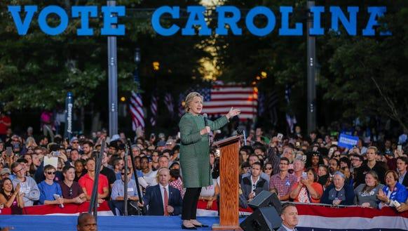 N.C. poll shows Clinton, Trump in virtual tie