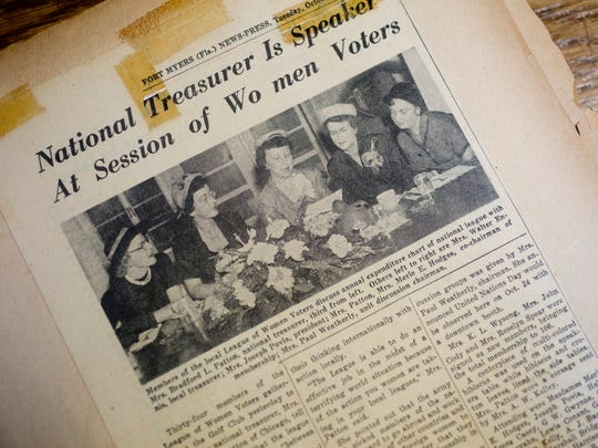 More from a scrapbook of the Lee County Women's League of Voters.