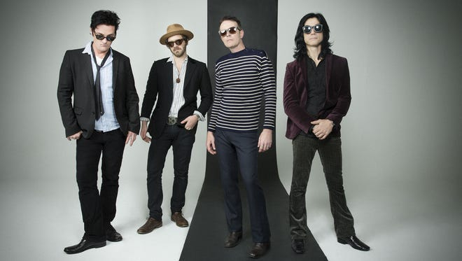 """Former Stone Temple Pilots vocalist Scott Weiland (second right) returns with a new band, The Wildabouts, and a new album """"Blaster."""""""