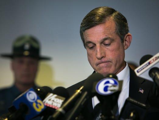 Gov. John Carney speaks at a press conference held