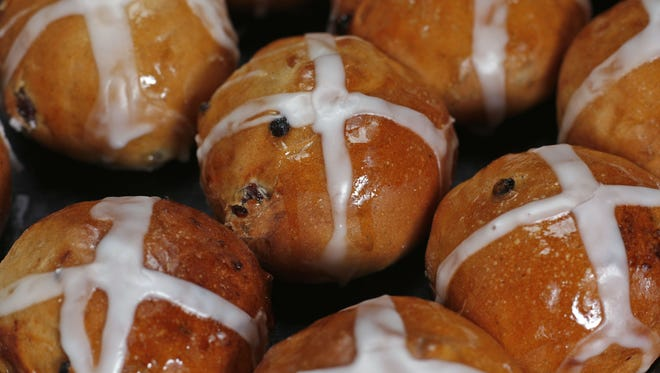 Hot Cross Buns will be among the Easter pastries and breads offered by Cascade Baking.
